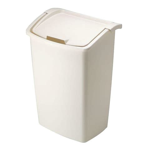 rubbermaid trash   lid beige  gal large