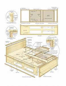 Queen Storage Bed Plans BED PLANS DIY & BLUEPRINTS
