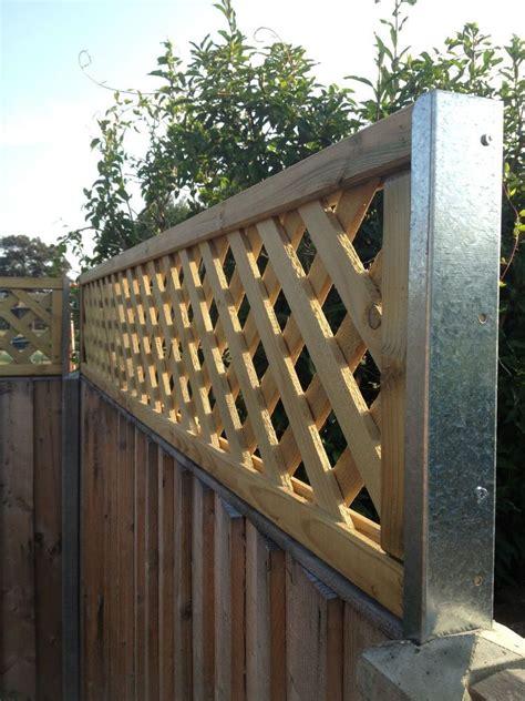 Trellis Fence Extension by Concrete Fence Post Extensions Extenders Trellis Panel