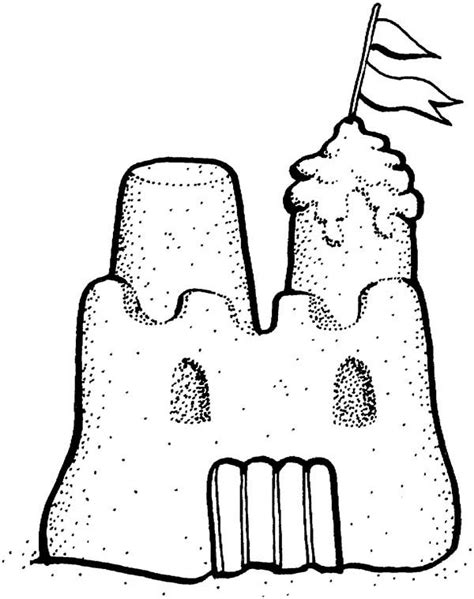 Coloring With Sand by Picture Of Sand Castle Coloring Page Picture Of Sand