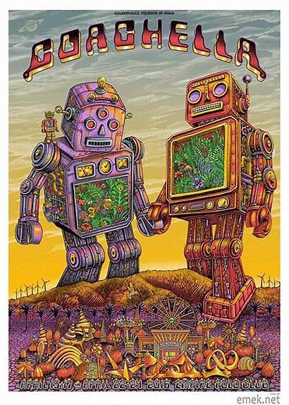 Coachella Emek Poster Festival Artist Edition Rock