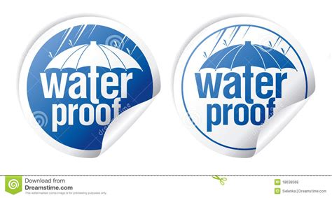 Waterproof Stickers Stock Vector Illustration Of Blue