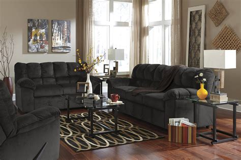 julson ebony sofa  loveseat fabric living room sets