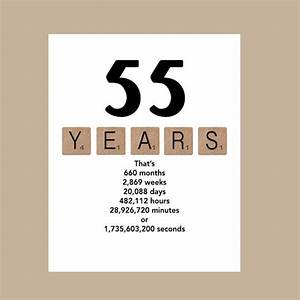 55th Birthday Card Milestone Birthday Card 1962 Birthday