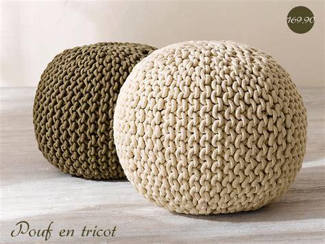 tricoter un pouf rond tricoter un pouf
