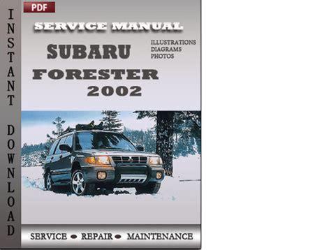 Subaru Forester 2002 Factory Service Repair Manual