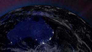 Earth from Space Lightstreaks over Australia view from ...