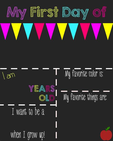 day of school chalkboard template day of school printable chalkboard sign the shady