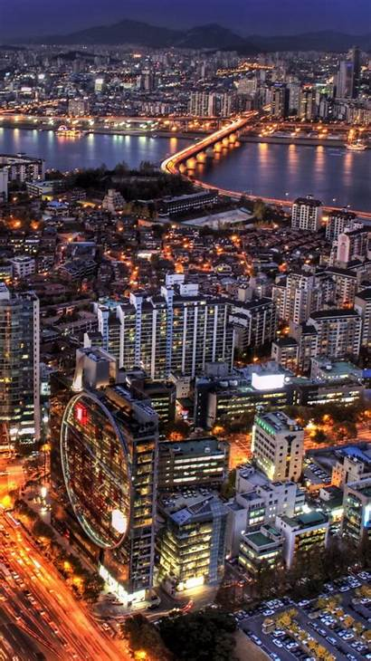 Korea Seoul South Iphone Night Wallpapers Architecture
