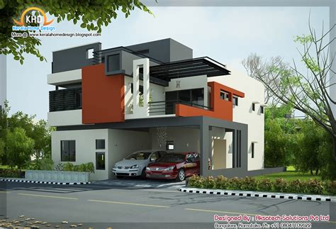 modern style home plans 2 beautiful modern contemporary home elevations kerala