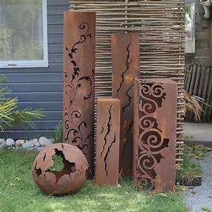 Decoration Jardin Metal : objets d co de jardin en m tal ~ Teatrodelosmanantiales.com Idées de Décoration