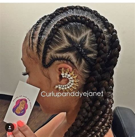 Braided Hairstyles And Creative by Curlupanddyejanet Flexing Skills On These Cornrows So