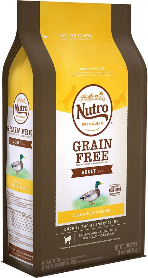 nutro grain  adult duck potato formula dry cat food
