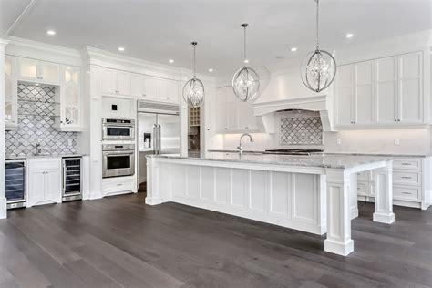white kitchen inspiration oversized island white