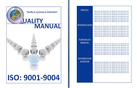 quality manual template quality manual template by formsword