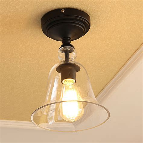 Lighting   Semi Flush Mounts   American Country Style