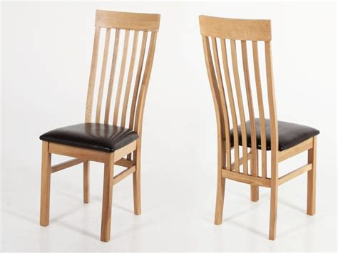 solid oak dining chairs simple design HomeFurnitureorg