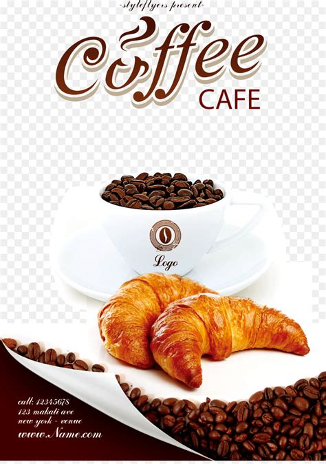 coffee cafe bakery flyer coffee poster png
