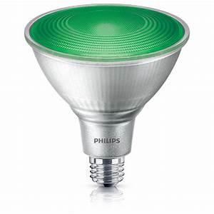Philips w equivalent par green led flood light bulb