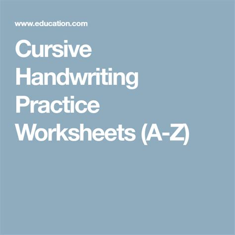cursive handwriting practice worksheets    images
