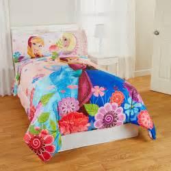 frozen floral breeze twin full reversible bedding