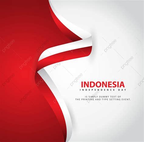 indonesie le jour de lindependance vecteur modele
