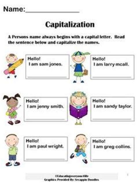 capitalization mini lesson images teaching