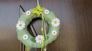 Basteln Zum Frühling : fr hling sommer dekoration t rkranz selber basteln einfach und schnell youtube ~ Frokenaadalensverden.com Haus und Dekorationen