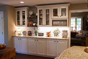 Farmhouse, Kitchen, White, Cabinets, With, Open, Shelving
