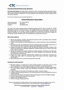 Clinical research associate uk field based for Clinical research associate cv