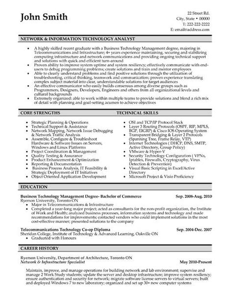 resume format  networking amp hardware