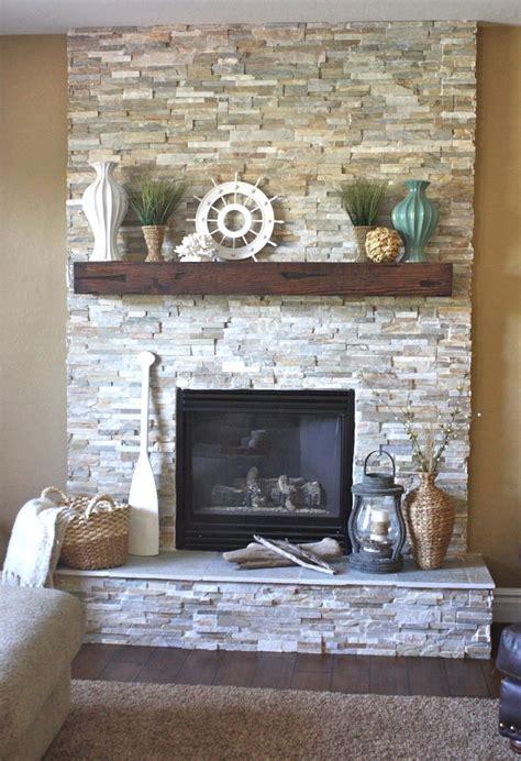 faux stone fireplaces ideas  pinterest rustic