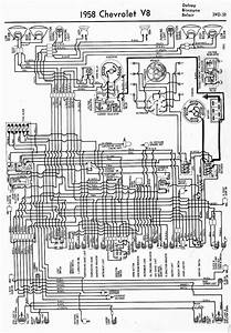 Wiring Diagrams Of 1958 Chevrolet V8  59668