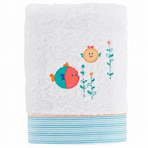 Serviette Carré Blanc : serviette de toilette noa blanc carre blanc ~ Teatrodelosmanantiales.com Idées de Décoration