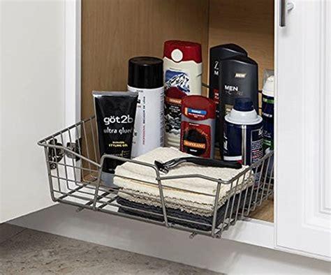 updating kitchen cabinets closetmaid 3087 14 inch wide cabinet organizer nickel 3087