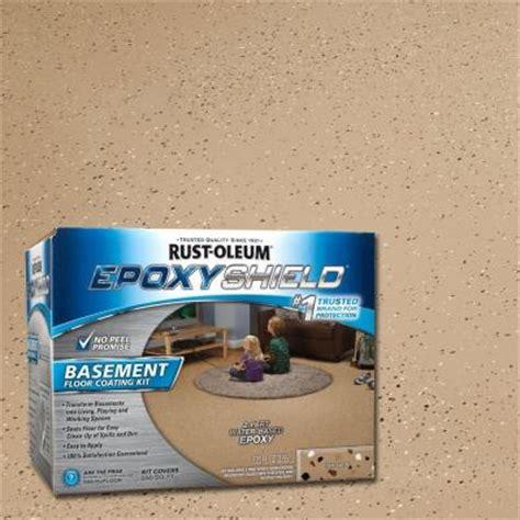 rust oleum epoxyshield 1 gal tan satin basement floor