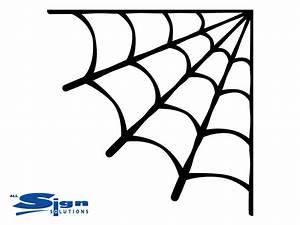 Corner Spider Web Halloween Decal - Wall Art Company