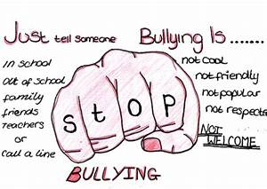Drawn poster anti bullying - Pencil and in color drawn ...