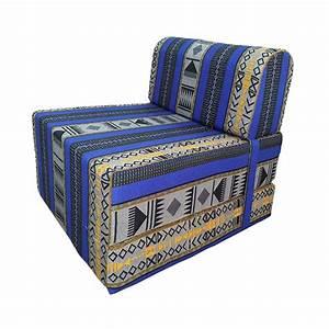 Canapes lit une place coloris margoum bleu salonnettn for Canapé lit une place