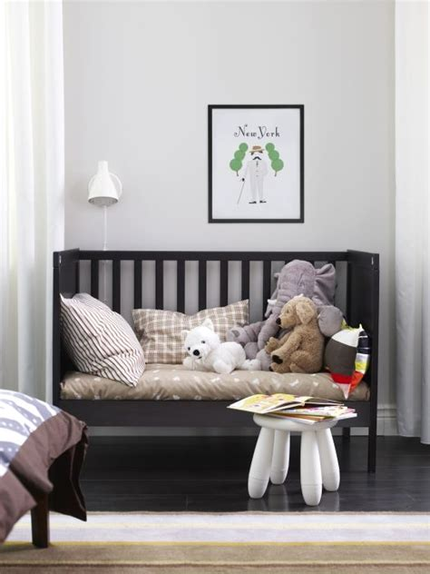sundvik crib black brown big kids furniture  nursery ideas