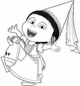 How To Draw Agnes From Despicable Me In Easy Steps Drawing