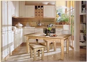 chantier decoration cuisine bois With idee deco cuisine avec cuisine aménagée en bois
