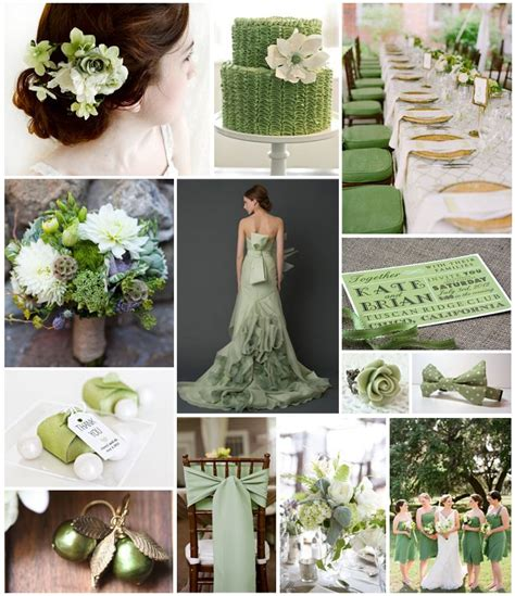 sage green wedding theme board fearlessbrides  stuff