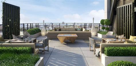 rooftop terraces chic contemporary luxury roof terrace st james merano residences roof terrace cgi interior