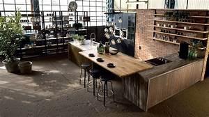 Cuisine En Bois Brut : cuisine bois top cuisine ~ Teatrodelosmanantiales.com Idées de Décoration