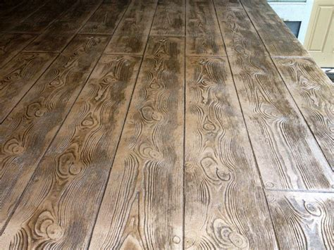 wood plank stamped concrete rock solid custom concrete