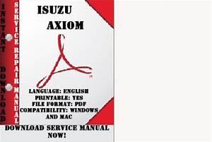 Free 2002 Isuzu Axiom Service Repair Manual Download