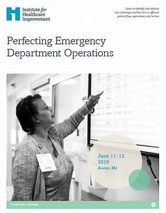 Improve Patient Flow In Your Emergency Department