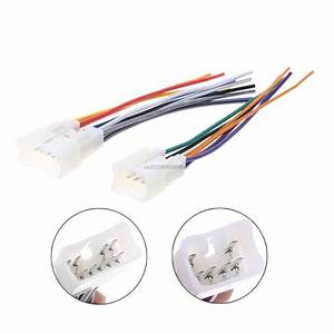 2pcs Car Radio Wiring Harness Adapter Plug Cable Power Connector For Toyota