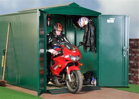 """Motorcycle Storage Shed, 9ft X 5ft 2"""" Motorbike Garage"""